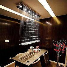 Modern Contemporary Rain Drop 6LED K9 Crystal Chandelier Pendant Light Ceiling
