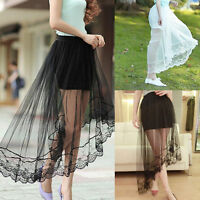 Net Lace Draped Midi Skirt Size M UK 10