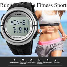 Pedometer Calorie Counter Heart Rate Monitor Pulse Men Women Fitness Sport Watch