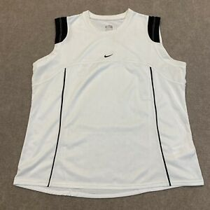 Nike Fit Dry Youth Size XL (16-18) Extra Large White Sleeveless Tank Top Shirt