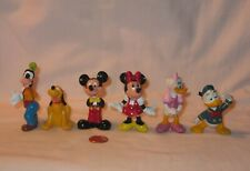 6X Retired Disney Mickey And Five Friends Pvc Figures