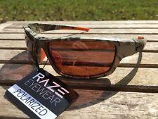 RAZE Eyewear Sunglasses Z Coast polarized fishing Camo Brown Amber Lens 21931