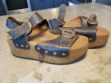 Omnia'c Convertible Pop Out Sandal Roller Skates Made in Italy Sz 4/33/1 Blue