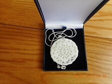 Jade (White)  Hand-carved Pendant Natural With 925 chain AND FREE LADIES WATCH