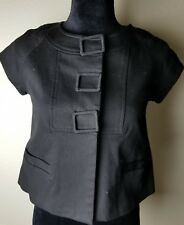 Miss Me Womens Crop Sleeve Black Jacket with destgn buttons Size Small--D10
