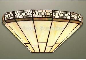 MISSION TIFFANY STYLE HANDCRAFTED GLASS WALL LIGHT WALL FIXING INCLUDED
