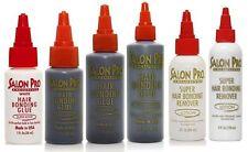 Salon Pro Hair Extension Bonding Glue & Black White Remover (All sizes)