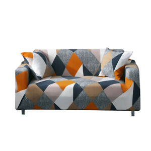 Geometric Printed Stretch Sofa Cover Couch Elastic Slipcover Protector Home Deco