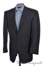 ERMENEGILDO ZEGNA Recent Brown Check 100% Wool Blazer Sport Coat - Bespoke 38 R