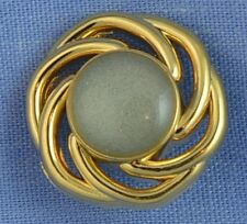 15mm Gold / Pearl Shank Button