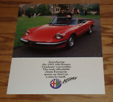 Original 1985 Alfa Romeo Graduate Specifications Sales Sheet Brochure 85