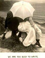 1907 Robert McCrum Too Busy To Write Real Photo RPPC Postcard Bamforth Seashore