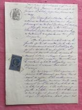 Antiguo francés escrito a mano manuscrito del 1883 de enero magnífico calligrapy Decoupage