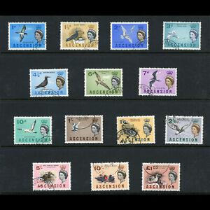 ASCENSION 1963 Birds. Set of 14 Values. SG 70-83. Fine Used. (WE956)