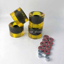 Yellow 4pcs 78A 60*45mm Wheels 8pcs Abec-9 Bearings 4pcs Spacers Skateboard Set