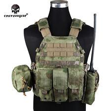 EMERSON LBT6094A Style Plate Carrier Vest w/ 3 Pouch Tactical A-Tacs FG EM7440G