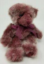 """Russ Berrie Plush Unique Purple Plum Color Large 9"""" Teddy Bear Bearberry Mint"""