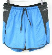 "Patagonia Mens Running Shorts Strider Pro Small Blue Gray 5"" Hiking Athletic EUC"