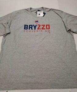 NWT Chicago Cubs Anthony Rizzo Kris Bryant  Gray Fanatics Bryzzo T-Shirt 4XL New