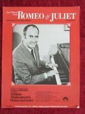 1969 Vintage Sheet Music Romeo & Juliet Henry Mancini fc82