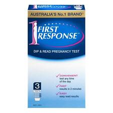 * FIRST RESPONSE DIP AND READ PREGNANCY TEST 3 PACK CONVENIENT FAST AND EASY