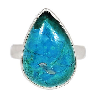 Chrysocolla Peru 925 Sterling Silver Ring XGB Jewelry s.6 BR85649
