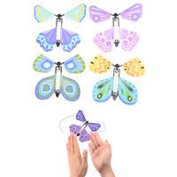 Magie fliegender Schmetterling Überraschendes Geschenk Wind up Magic Kids Toy ^