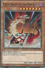 YU-GI-OH CARD: FUSILIER DRAGON, THE DUAL-MODE BEAST  - SDMP-EN015 - 1st EDITION