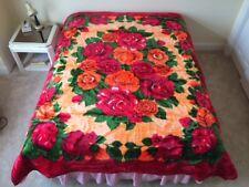 Korean Mink Blanket - 2-Ply - Red - Queen - Made in Korea - Premium - 13 Lbs