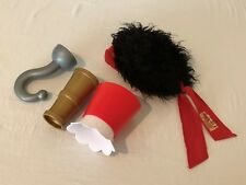 Disney Parks Jake Neverland Pirates Bandana Headband Wig Hook Hand Telescope