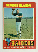 George Blanda (d.2010) Signed 1971 Topps RP Raiders - Not Personalized ! PSA