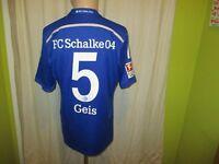 "FC Schalke 04 Original Adidas Heim Trikot 2014/15 ""Gazprom"" + Nr.5 Geis Gr.M TOP"