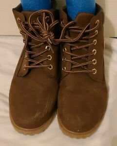 Classic Fashion Dark Brown Work Boots Women's Size 39 or size 8-8.5