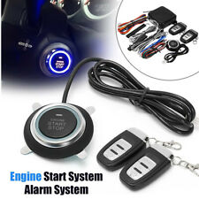 Car One Button Engine Start Vibration Alarm System Security Ignition Push Remote