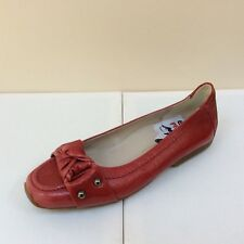 K&S Susa red patent flats with patent knot detail, UK 3/EU 36, RRP £135, BNWB