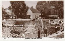 Newnham Baths Swimming Bedford unused RP pc Valentines Ref A458