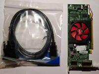 Dell AMD Radeon HD 6450 & DisplayPort DVI HDMI Adapter 1GB SFF PCIe Video Card