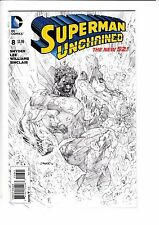 SUPERMAN UNCHAINED #8, JIM LEE 1:100 SKETCH VARIANT, New, DC NEW 52 (2014)