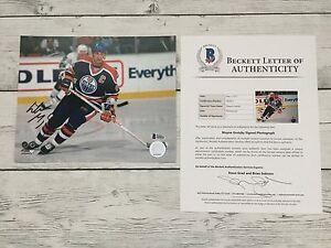 Wayne Gretzky Signed Edmonton Oilers 8x10 Photo Photofile Beckett BAS COA LOA a