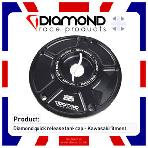 DIAMOND - QUICK RELEASE FUEL TANK CAP - KAWASAKI Z1000 (inc. SX) 10-11 2010 2011