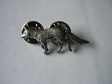 Fox codeppa23  Made from Solid Fine English Pewter Pin Lapel badge