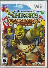 Shrek's Carnival Craze  (Wii, 2008) Factory Sealed