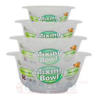 Clear Plastic Round MIXING BOWL Salad Serving Set Baking Kitchen Stirring Bowls