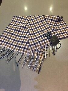 New Genuine Aquascutum London Lambswool Scarf In Classic House Check
