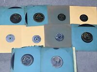 LOT OF 10 1920'S-40'S 78 RPM RECORDS SHELLAC FOR VICTROLA OLD FREE SHIPPING