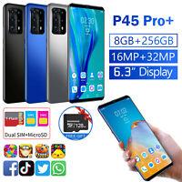 "4G 6.3"" Android 10.0 Dual SIM Unlocked Smart Phones 8+256BG &128GB TF Card"