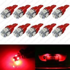 10 x Red LED License Plate Light Bulbs 168 194 2825 T10 W5W For Dodge