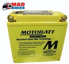 HONDA VTR1000 F FIRESTORM Batería MOTOBATT MBTX12U 20% potencia extra 1997-2000