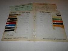 1934-1941 CHEVROLET COMMERC  PAINT CHIP CHART COLORS SHERWIN WILLIAMS PLUS MORE