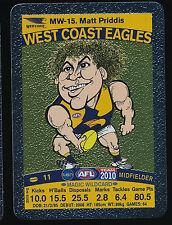2010 Teamcoach Magic Wildcard Matt Priddis West Coast Eagles Team Coach wild